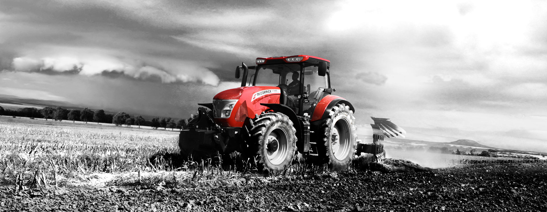 McCormick tractor working in a field